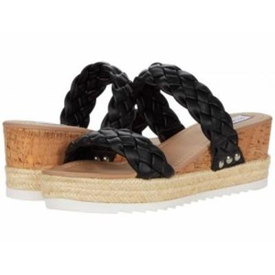 Steve Madden スティーブマデン レディース 女性用 シューズ 靴 ヒール Jewel-W Wedge Sandal Black【送料無料】