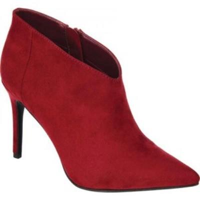 ジュルネ コレクション Journee Collection レディース ブーツ シューズ・靴 Demmi Pointed Toe Heeled Bootie Red Manmade