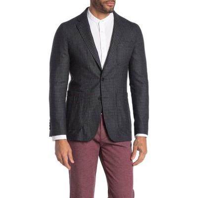 バーバリー メンズ ジャケット&ブルゾン アウター Soho Grey Plaid Two Button Notch Lapel Wool Blazer DARK GREY MELANGE
