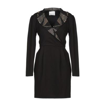 BOLONGARO TREVOR ミニワンピース&ドレス ブラック M レーヨン 100% ミニワンピース&ドレス