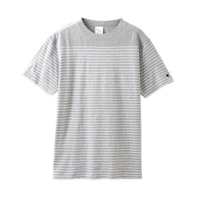 セール チャンピオン (C3-P303-070) ベーシックチャンピオンTシャツ(ボーダーデザイン) オックスフォードグレー (K)