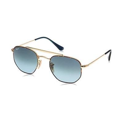 Ray-Ban unisex adult Rb3648 the Marshal Sunglasses, Havana/Blue Gradient, 54 mm US【並行輸入品】