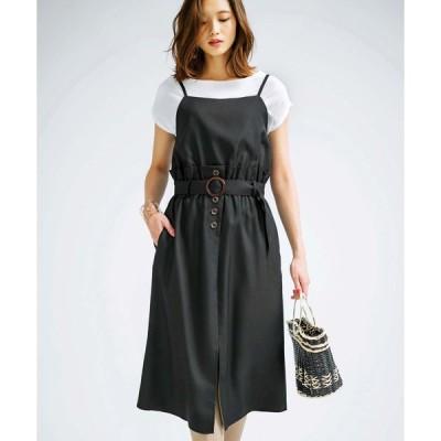 【ジーラ】ビスチェレイヤード風ジャンパースカート