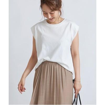 (Rejoule/リジュール)【2021新作商品 】オーバーサイズショルダータックTシャツ/レディース オフホワイト