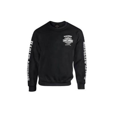 パーカー トレーナー ハーレーダビッドソン Harley-Davidson Men's Lightning Crest Fleece Pullover Sweatshirt, Black