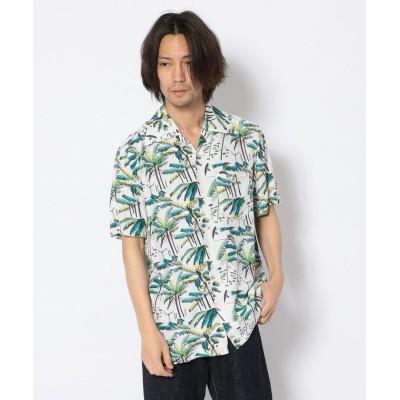 """(RAWLIFE/ロウライフ)Aloha Blossom/アロハ ブロッサム/""""PALM TREE""""/メンズ WHITE"""
