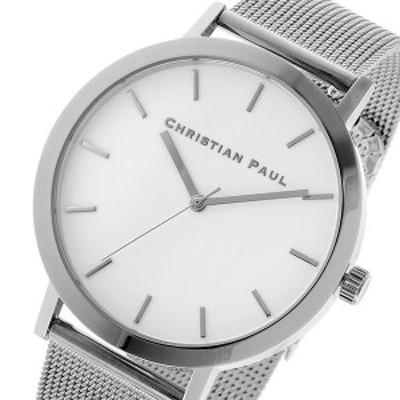 クリスチャンポール CHRISTIAN PAUL ロウ RAW メッシュ ユニセックス 腕時計 RWM-03 ホワイト/シルバー 【激安】 【SALE】