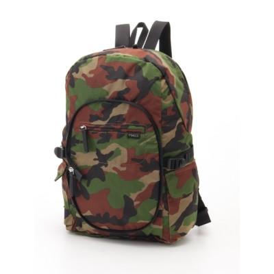 Y'SACCS(bag) (イザック(バック)) レディース パッカブルリュック カモフラージュ フリー