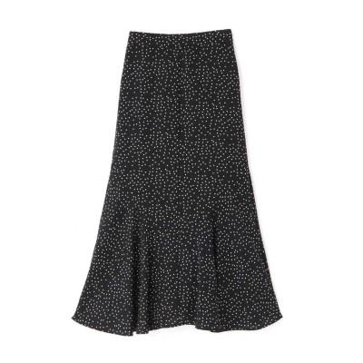 プリントペプラムスカート