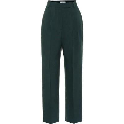 フランキー ショップ Frankie Shop レディース ボトムス・パンツ Bea High-Rise Stretch-Twill Pants Forest Green