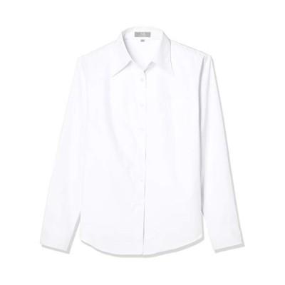 ブランシェ レディース ブラウス 透けない シャツ カジュアルにも着こなせる レディースワイシャツ 白 黒 ピンク 青 オフィス OL レギ