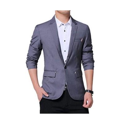 テーラードジャケット メンズ トップス スーツ ファッションスーツ コート ビジネス ストレッチ スリム 無地 細身 ブラック 結婚式 パー