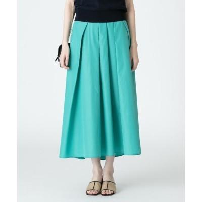 スカート グログランタックフレアスカート