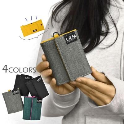 ミニ財布 財布 レディース 小さめ 三つ折り財布 おしゃれ ポリエステル ターポリン L.R.M 三つ折り