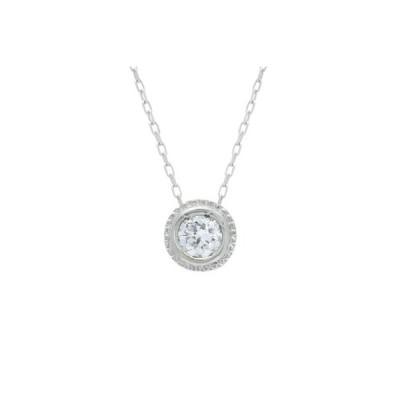 山梨県 ふるさと納税 SIクラスダイヤモンド0.1ctシンプルネックレス プラチナ