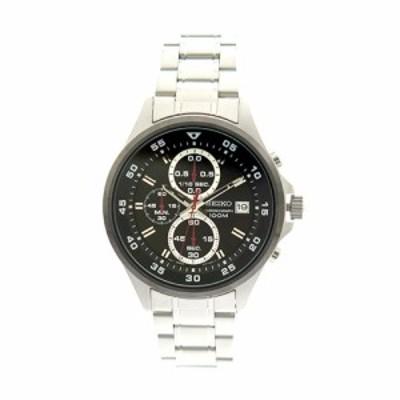 セイコー メンズ 腕時計/SEIKO 腕時計 ブラック シルバー 送料無料/込 誕生日プレゼント