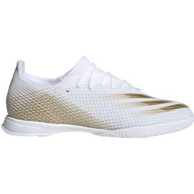 アディダス メンズ サッカー スポーツ adidas Men's X Ghosted.3 Indoor Soccer Shoes White/Gold