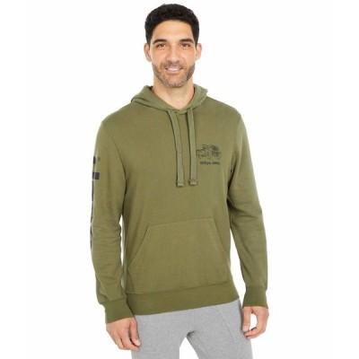 ラッキーブランド パーカー・スウェットシャツ アウター メンズ Jeep Mineral Wash French Terry Hooded Sweatshirt Ivy Green