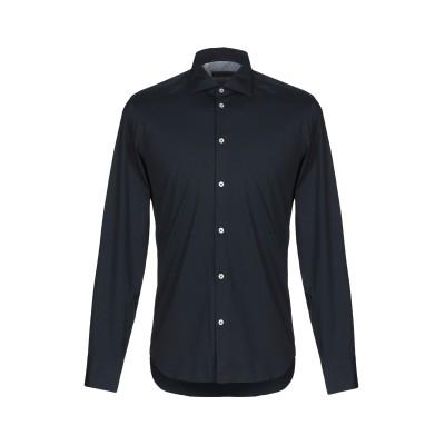 マニュエル リッツ MANUEL RITZ シャツ ダークブルー 42 コットン 98% / ポリウレタン 2% シャツ