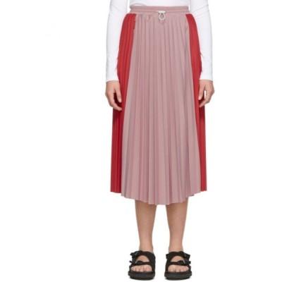モンクレール Moncler レディース ひざ丈スカート スカート Red & Pink Bicolor Pleated Skirt