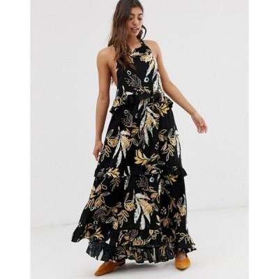 フリーピープル レディース ワンピース トップス Free People Anita floral print maxi dress