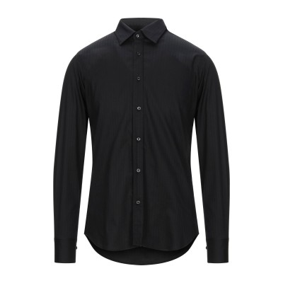 アレッサンドロデラクア ALESSANDRO DELL'ACQUA シャツ ブラック 41 コットン 98% / ポリウレタン 2% シャツ