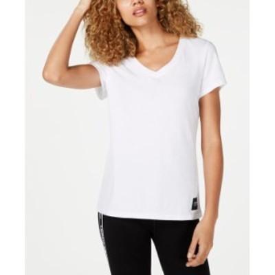カルバンクライン レディース Tシャツ トップス V-Neck T-Shirt White