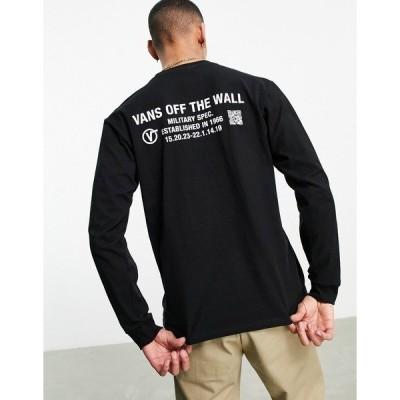 バンズ メンズ Tシャツ トップス Vans Quick Response long sleeve t-shirt in black Black