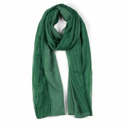 uxcell ロングスカーフ ストライプ柄 スカーフ 薄手 女性用 グリーン-2 180x80cm