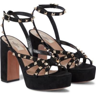 ヴァレンチノガラヴァーニ Valentino / Garavani レディース サンダル・ミュール シューズ・靴 valentino garavani rockstud suede platform sandals Nero