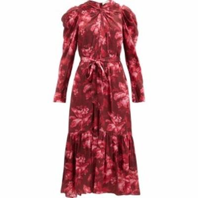 ジマーマン Zimmermann レディース ワンピース ミドル丈 ワンピース・ドレス beetle floral-print crepe midi dress Red