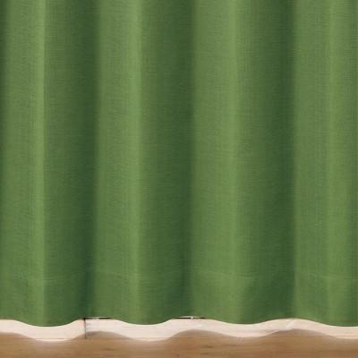 ベルーナインテリア ヘリンボーン柄70サイズ 防音・断熱・保温・1級遮光カーテン モスグリーン モスグリーン 約幅100×丈110cm レディース