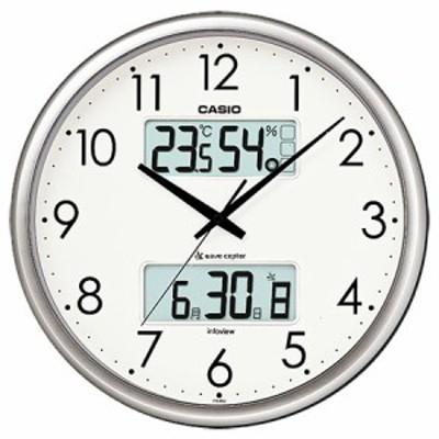 カシオ 温湿度計付 電波掛け時計(シルバー) ITM-650J-8JF[ITM650J8JF] 返品種別A