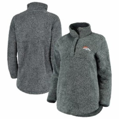 Concepts Sport コンセプト スポーツ スポーツ用品  Concepts Sport Denver Broncos Womens Charcoal Trifecta Snap-Up Jacket