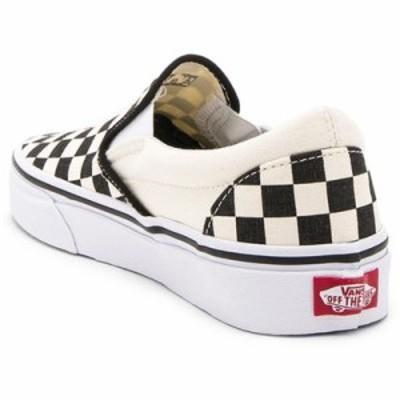 ヴァンズ スリッポン・フラット Classic Slip On Black and White Checker & White