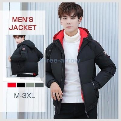 中綿ジャケット メンズ ミリタリージャケット メンズ コート ファー フード付き アウター 綿入れ 厚手 防寒 防風 冬