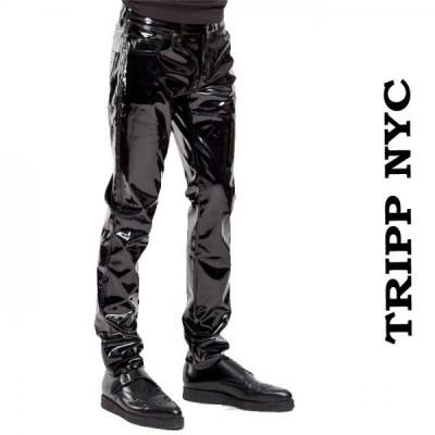 スキニーパンツ エナメル ブラック TRIPP NYC トリップニューヨーク  光沢 パンツ エナメルパンツ エナメルスキニー 光沢 ヴィニール
