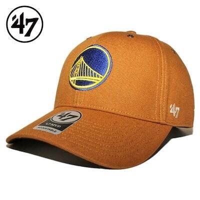 47ブランド カーハート コラボ ストラップバックキャップ 帽子 メンズ レディース 47BRAND CARHARTT NBA ゴールデンステイト ウォリアーズ フリーサイズ