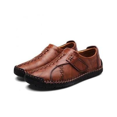イフユ スリッポン メンズ ローファー 本革(牛革) 革靴 カジュアルシューズ ドライビングシューズ フラット 通気 軽量 滑り止め 紳士靴