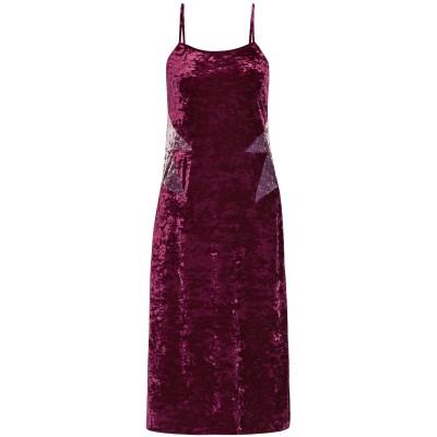 ANNA SUI 7分丈ワンピース・ドレス ガーネット XS ポリエステル 90% / ポリウレタン 10% / ナイロン 7分丈ワンピース・ドレス