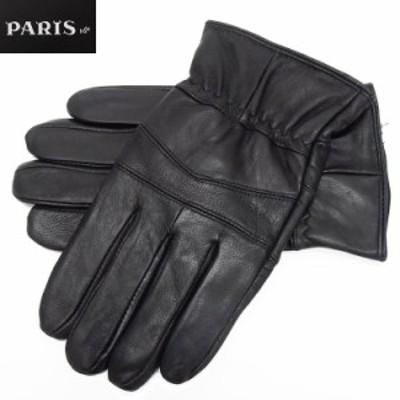 ◆手袋◆PARIS16e 羊革/シープスキン 黒 メンズ グローブ メール便可 LAM-N04-BK