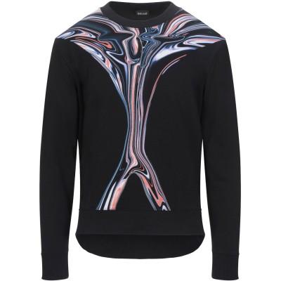 ジャストカヴァリ JUST CAVALLI スウェットシャツ ブラック M コットン 100% スウェットシャツ
