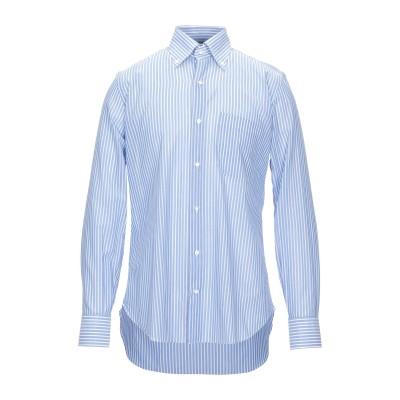 PRISCO NOLA シャツ アジュールブルー 40 コットン 100% シャツ