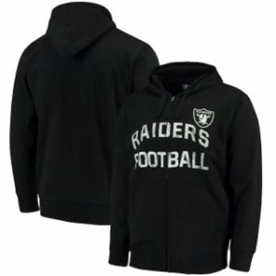Hands High ハンズ ハイ スポーツ用品  G-III Sports by Carl Banks Oakland Raiders Black Post Season Full-Zip Hooded Swe