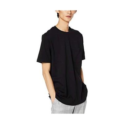 (ヒューゴ) リラックスフィット HUGOリバースロゴ Tシャツ Tシャツ/カットソー XS ブラック