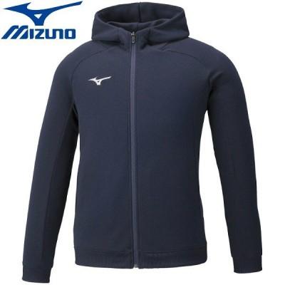 ◆◆ <ミズノ> MIZUNO スウェットシャツ( フルジップフーディー)(ユニセックス) 32MC0177 (14:ネイビー) スポーツウェア