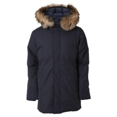 【即納】ピレネックス Pyrenex メンズ ダウン・中綿ジャケット アウター Annecy Fur Down Jkt Hmo019 AMIRAL アヌシー フーデッド ダウン