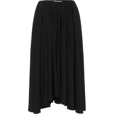 ジル サンダー Jil Sander レディース ひざ丈スカート スカート Pleated midi skirt Black