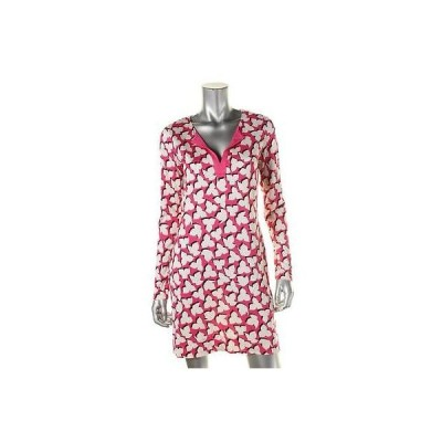 ドレス ワンピース Diane Von Furstenberg Diane Von Furstenberg 7217 レディース ピンク シルク プリント カジュアル ドレス 12 BHFO