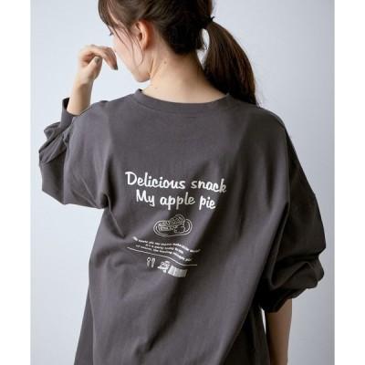 tシャツ Tシャツ アソートプリントルーズロングTシャツ
